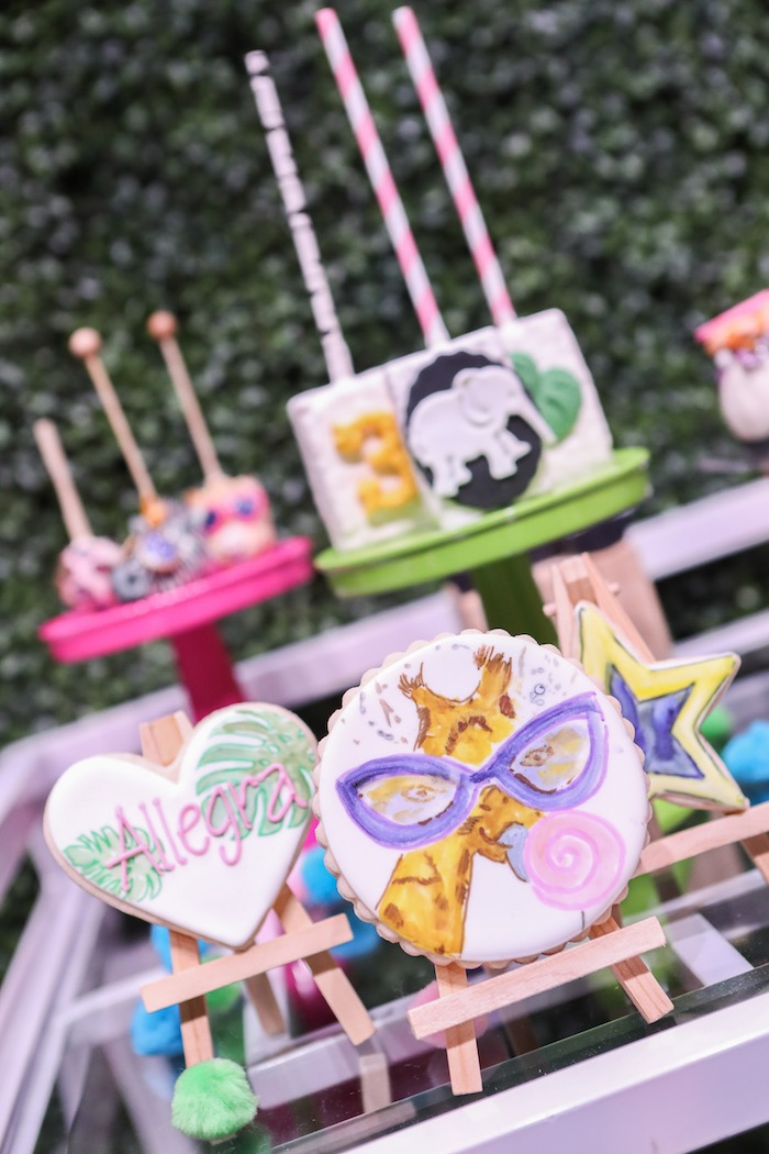 """Sugar cookies from a """"Young, Wild & Three"""" Animal Birthday Party on Kara's Party Ideas 