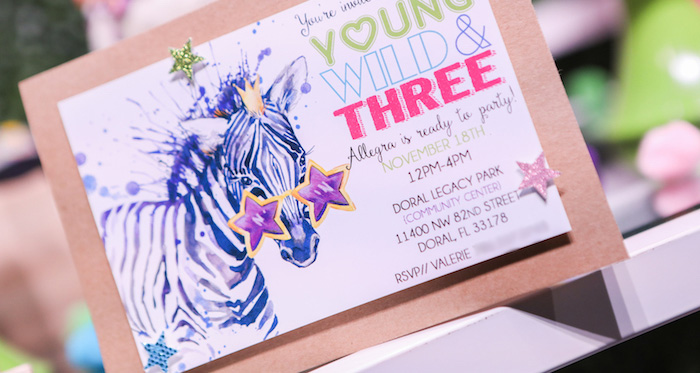 """Young, Wild & Three"" Animal Birthday Party on Kara's Party Ideas 