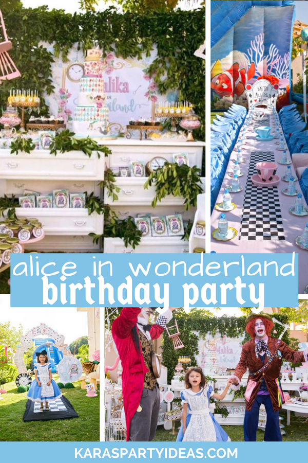 Alice in Wonderland Birthday Party via Kara's Party Ideas - KarasPartyIdeas.com