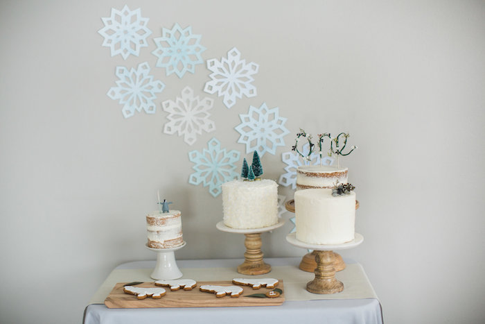 Cake table from an Arctic One-derland Birthday Party on Kara's Party Ideas | KarasPartyIdeas.com (26)