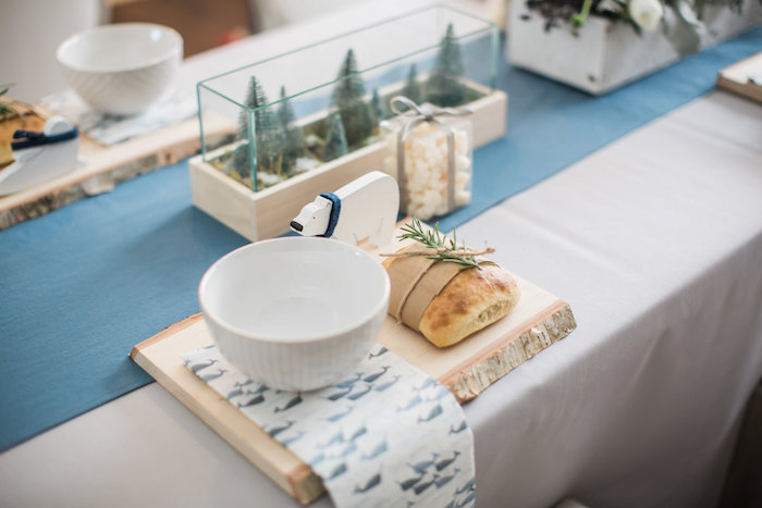 Table setting from an Arctic One-derland Birthday Party on Kara's Party Ideas | KarasPartyIdeas.com (21)