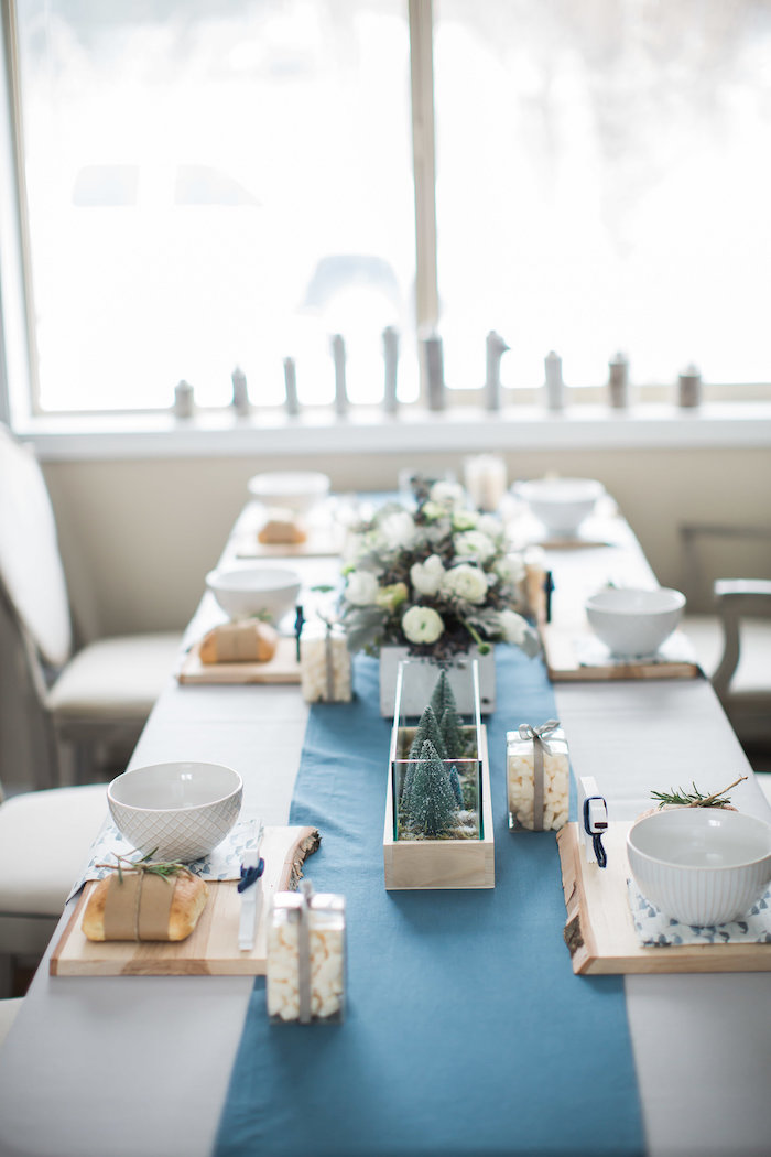 Guest tablescape from an Arctic One-derland Birthday Party on Kara's Party Ideas | KarasPartyIdeas.com (20)