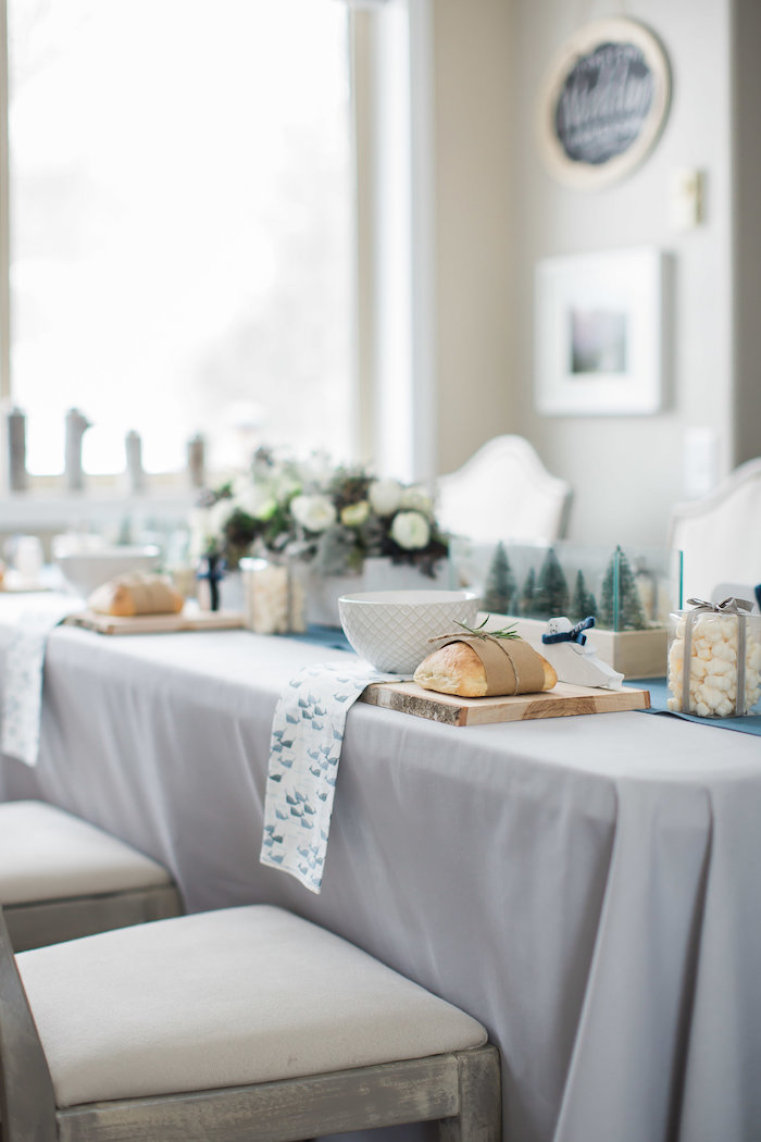 Guest tablescape from an Arctic One-derland Birthday Party on Kara's Party Ideas | KarasPartyIdeas.com (19)