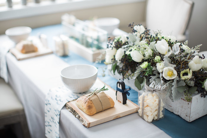 Table setting from an Arctic One-derland Birthday Party on Kara's Party Ideas | KarasPartyIdeas.com (18)