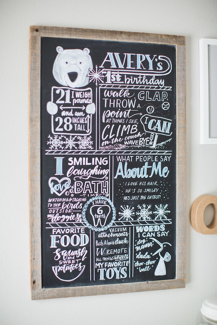 Highlight board from an Arctic One-derland Birthday Party on Kara's Party Ideas | KarasPartyIdeas.com (31)