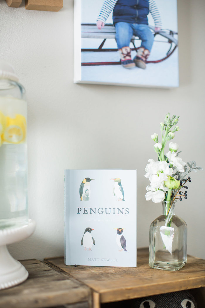 Penguins book from an Arctic One-derland Birthday Party on Kara's Party Ideas | KarasPartyIdeas.com (29)