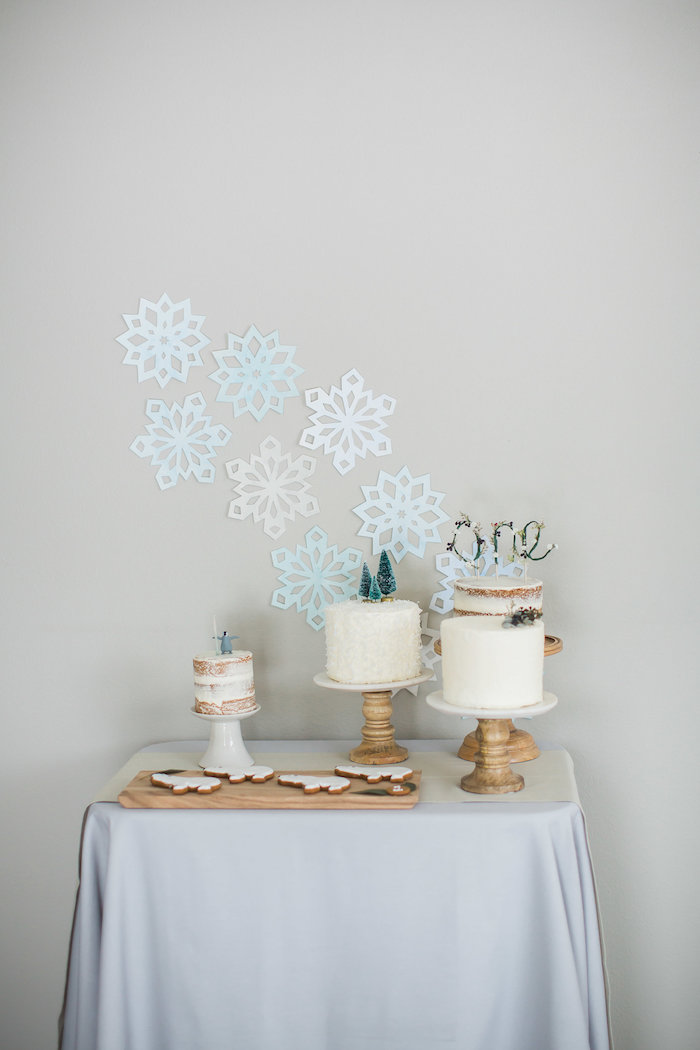 Cake table from an Arctic One-derland Birthday Party on Kara's Party Ideas | KarasPartyIdeas.com (27)