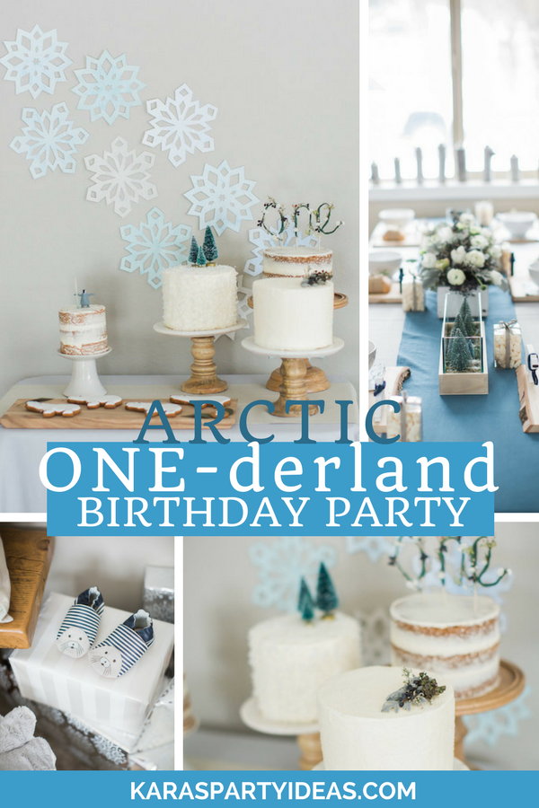 Arctic One-derland Birthday Party via Kara's Party Ideas - KarasPartyIdeas.com