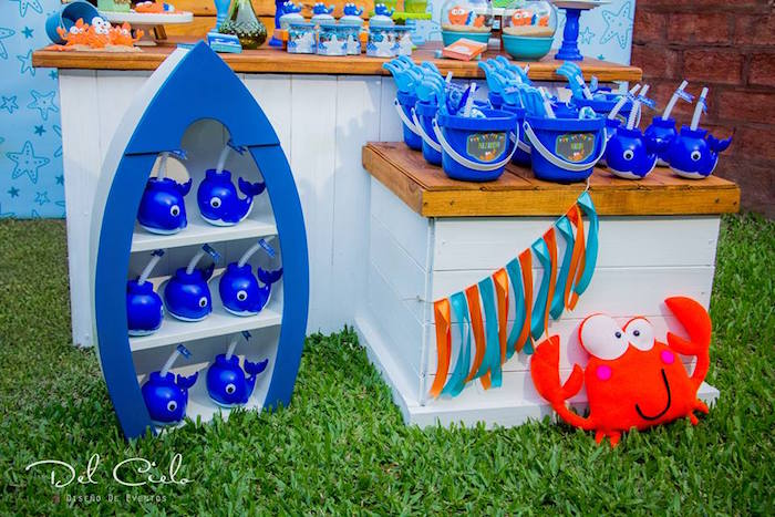Favors from a Baby Sea Animal Birthday Party on Kara's Party Ideas | KarasPartyIdeas.com (11)