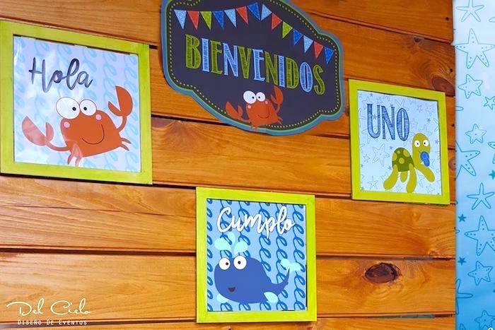 Baby sea animal signage from a Baby Sea Animal Birthday Party on Kara's Party Ideas | KarasPartyIdeas.com (9)