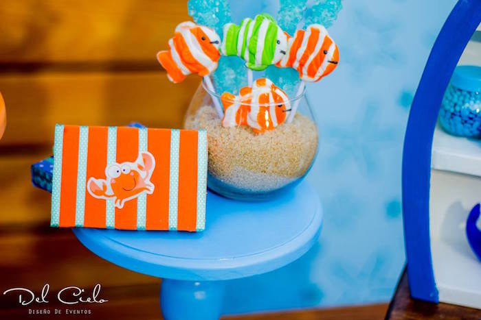 Fish pops from a Baby Sea Animal Birthday Party on Kara's Party Ideas | KarasPartyIdeas.com (5)