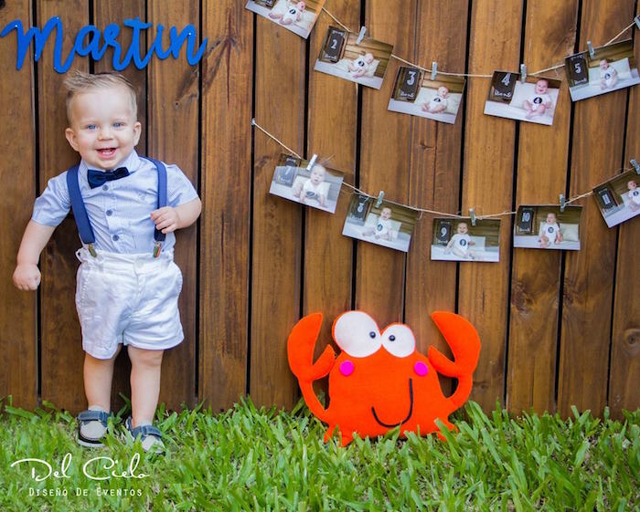 Photo op from a Baby Sea Animal Birthday Party on Kara's Party Ideas | KarasPartyIdeas.com (4)
