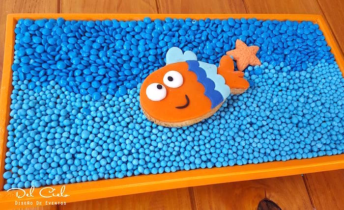Fish Sugar Cookie from a Baby Sea Animal Birthday Party on Kara's Party Ideas | KarasPartyIdeas.com (22)