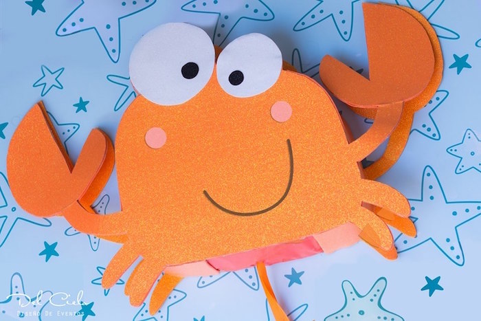Crab from a Baby Sea Animal Birthday Party on Kara's Party Ideas | KarasPartyIdeas.com (17)