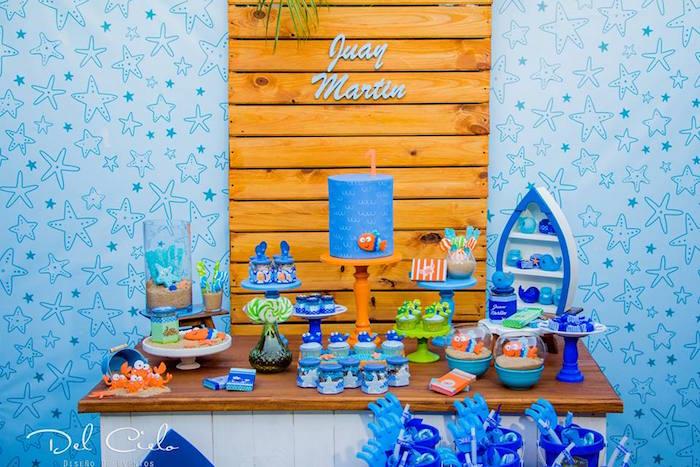 Baby Sea Animal Birthday Party on Kara's Party Ideas | KarasPartyIdeas.com (16)