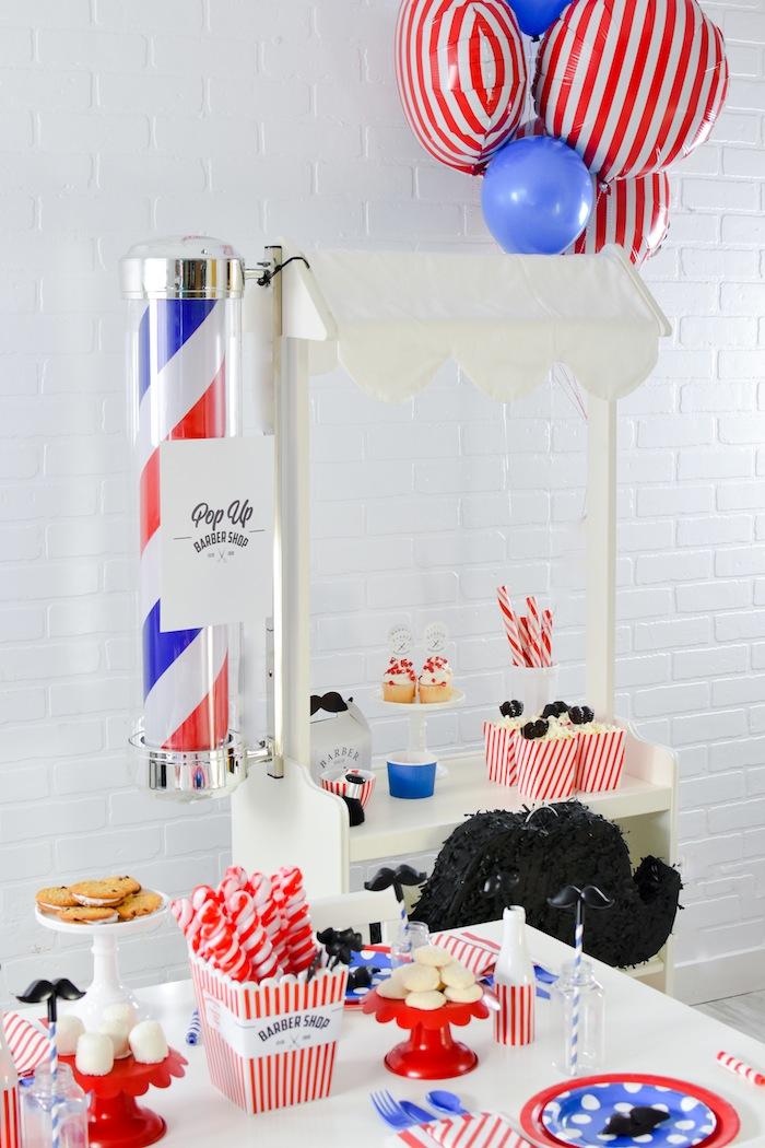 kara u0026 39 s party ideas pop up barbershop birthday party