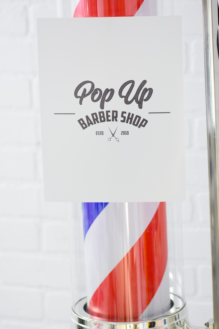Pop Up Barber Shop Free Printable Birthday Party Sign via Kara's Party Ideas