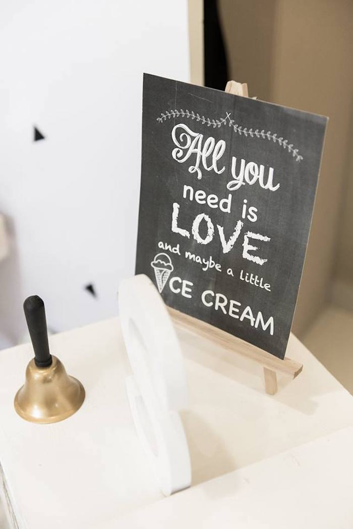 Chalkboard Ice Cream Sign from a Contemporary Scandinavian Birthday Party on Kara's Party Ideas | KarasPartyIdeas.com (28)