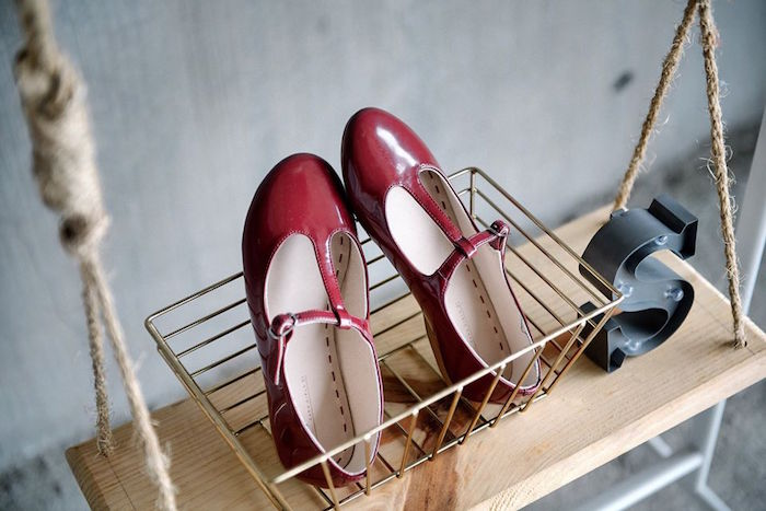 Shoes in a basket from a Contemporary Scandinavian Birthday Party on Kara's Party Ideas | KarasPartyIdeas.com (40)
