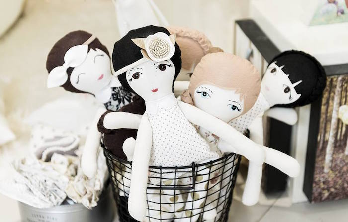 Soft dolls from a Contemporary Scandinavian Birthday Party on Kara's Party Ideas | KarasPartyIdeas.com (18)