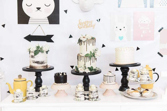 Dessert table from a Contemporary Scandinavian Birthday Party on Kara's Party Ideas | KarasPartyIdeas.com (7)
