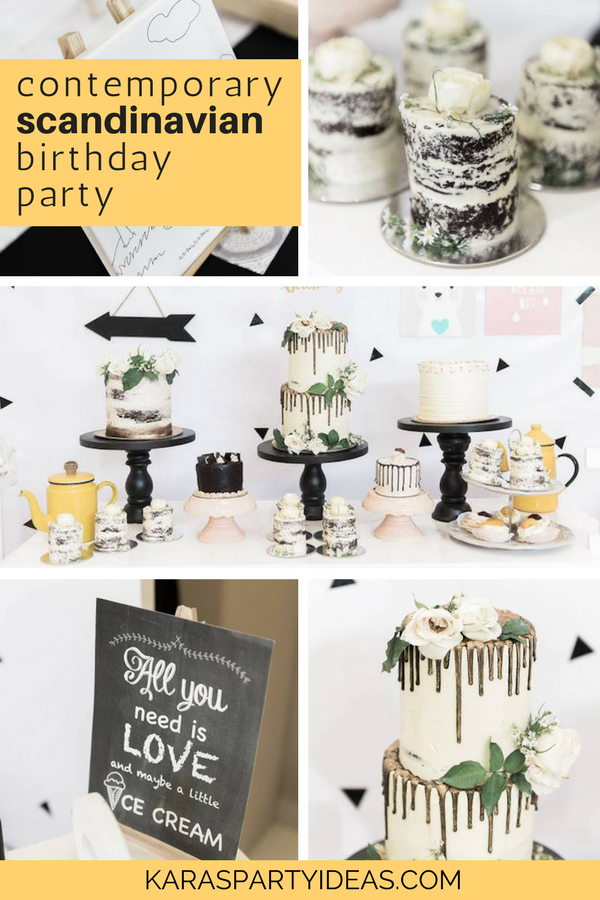 Contemporary Scandinavian Birthday Party via Kara's Party Ideas - KarasPartyIdeas.com