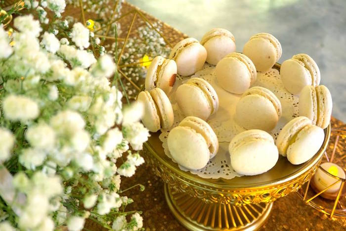 Macarons from an Elegant Glam Birthday Party on Kara's Party Ideas | KarasPartyIdeas.com (6)