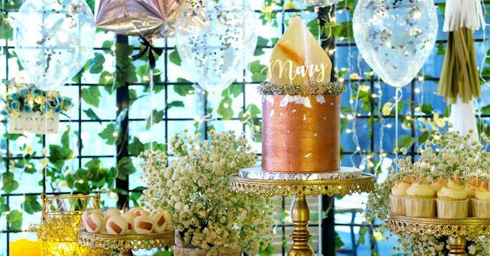 Elegant Glam Birthday Party on Kara's Party Ideas | KarasPartyIdeas.com (1)