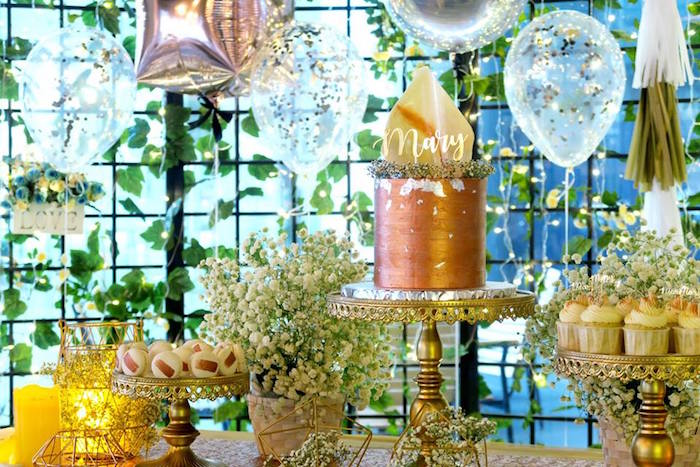 Dessert table from an Elegant Glam Birthday Party on Kara's Party Ideas | KarasPartyIdeas.com (14)