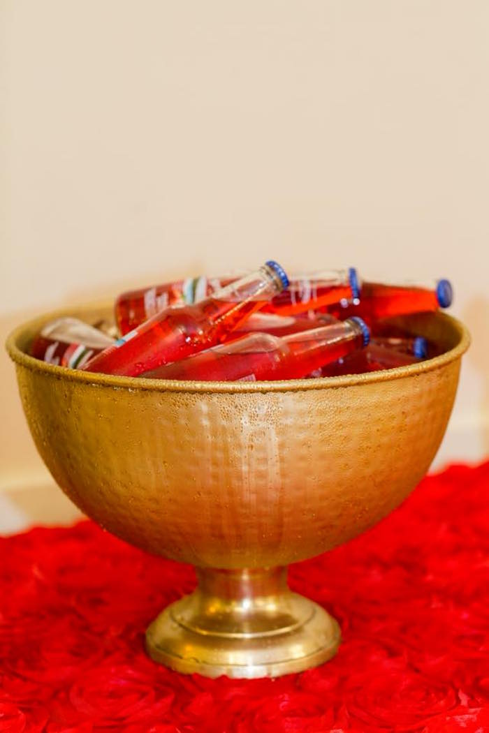 Gold beverage bowl from an Elegant Graduation Party on Kara's Party Ideas | KarasPartyIdeas.com (9)