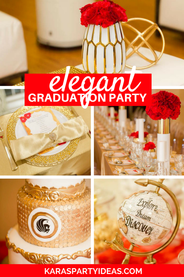 Elegant Graduation Party via Kara's Party Ideas - KarasPartyIdeas.com