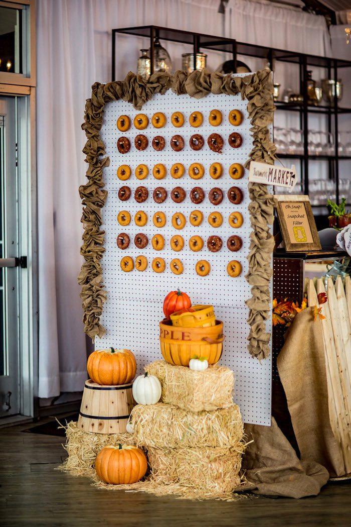 Doughnut board from a Farmers' Market Birthday Party on Kara's Party Ideas | KarasPartyIdeas.com (6)