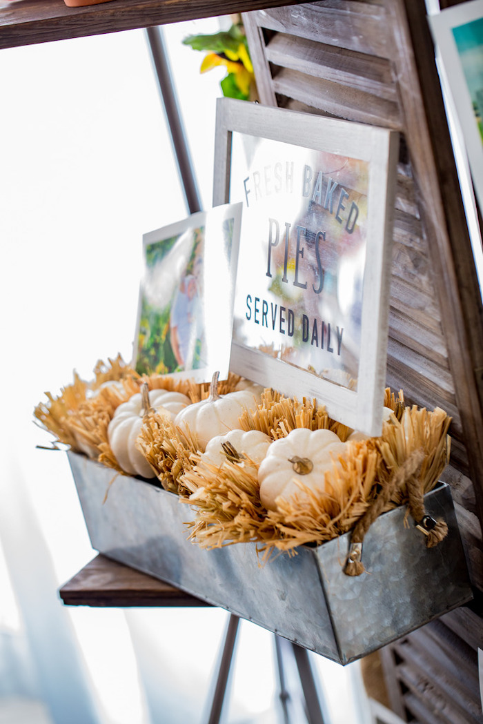 Farmhouse decor from a Farmers' Market Birthday Party on Kara's Party Ideas | KarasPartyIdeas.com (4)
