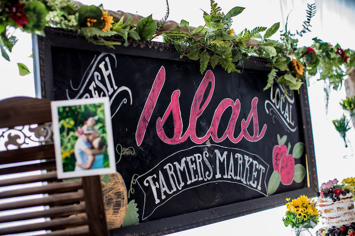 Chalkboard sign from a Farmers' Market Birthday Party on Kara's Party Ideas | KarasPartyIdeas.com (15)
