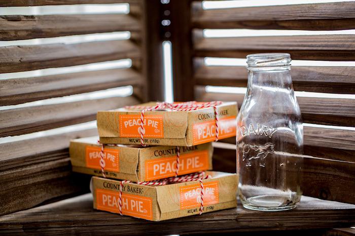 Peach Pies from an Farmers' Market Birthday Party on Kara's Party Ideas | KarasPartyIdeas.com (10)