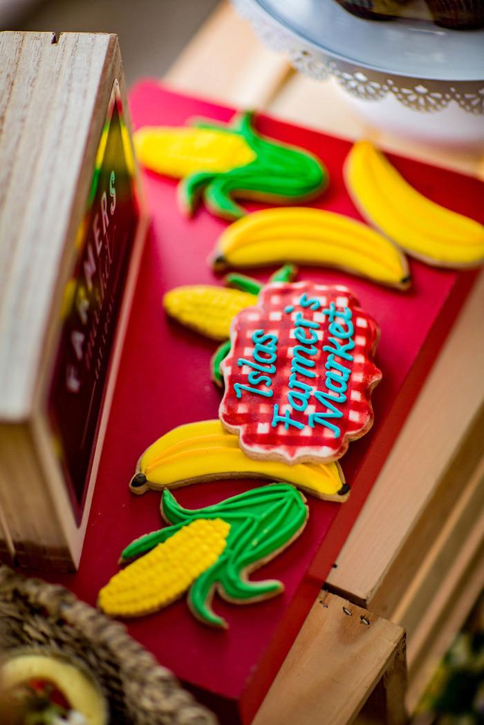 Cookies from a Farmers' Market Birthday Party on Kara's Party Ideas | KarasPartyIdeas.com (9)