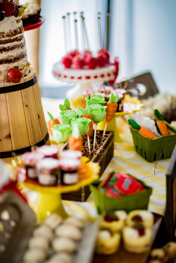 Dessert table from a Farmers' Market Birthday Party on Kara's Party Ideas | KarasPartyIdeas.com (8)