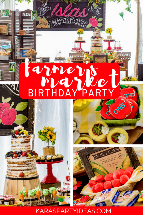 Farmers Market Birthday Party via Kara's Party Ideas - KarasPartyIdeas.com