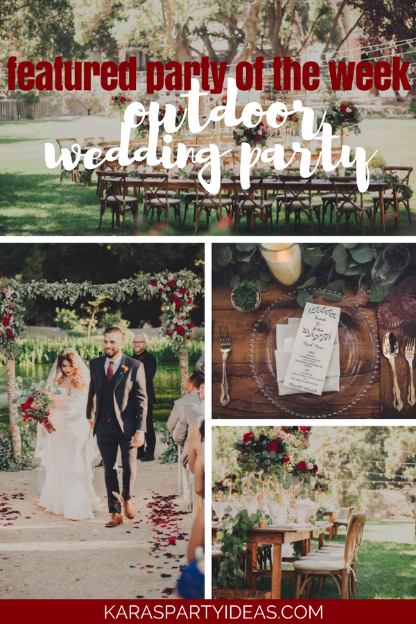 Featured Party of the Week Outdoor Wedding Party via Kara's Party Ideas - KarasPartyIdeas.com