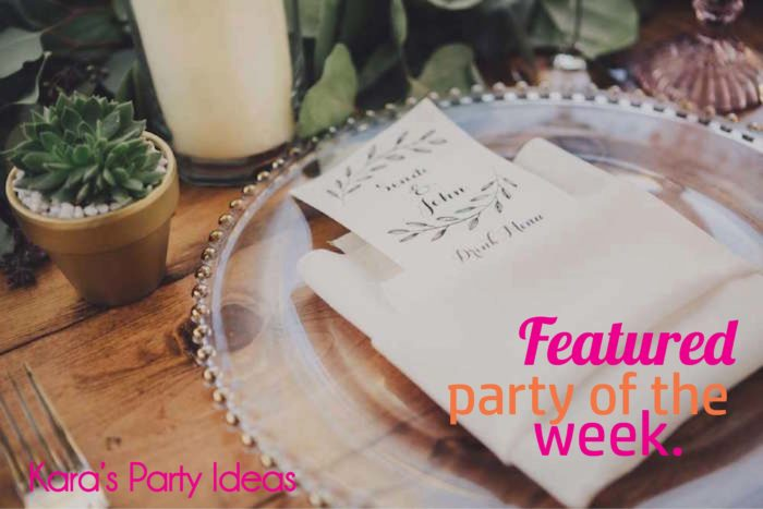 Featured Party of the Week: Outdoor Wedding Party | Kara's Party Ideas