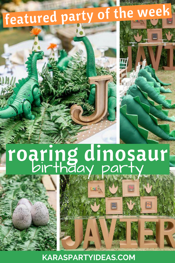 Featured Party of the Week Roaring Dinosaur Birthday Party via Kara's Party Ideas - KarasPartyIdeas.com