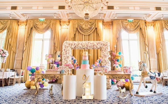 Floral Pastel Carousel Birthday Party on Kara's Party Ideas | KarasPartyIdeas.com (25)