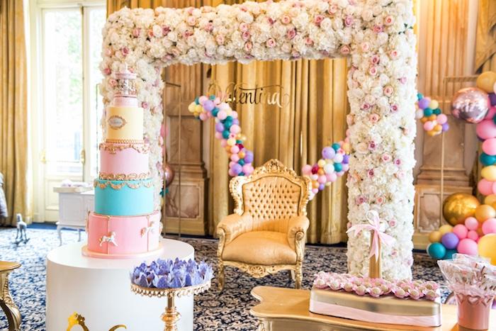 Floral Pastel Carousel Birthday Party on Kara's Party Ideas | KarasPartyIdeas.com (17)