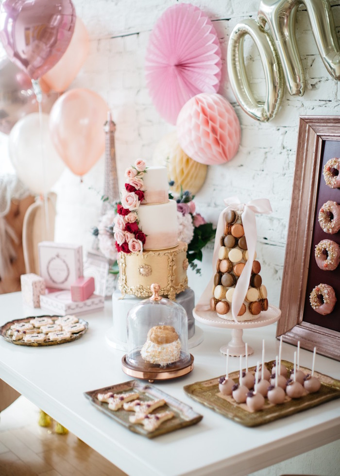 French Flower Market Inspired Birthday Party on Kara's Party Ideas | KarasPartyIdeas.com (24)