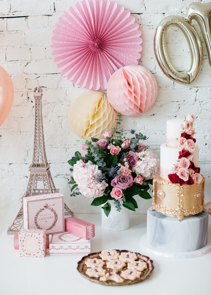French Flower Market Inspired Birthday Party on Kara's Party Ideas | KarasPartyIdeas.com (21)