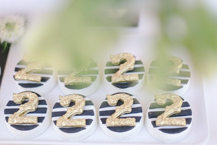 Covered Oreos from a Geometric Boho Wild & Free Birthday Party on Kara's Party Ideas | KarasPartyIdeas.com (17)