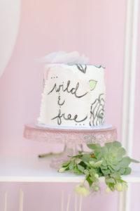 Wild & Free Cake from a Geometric Boho Wild & Free Birthday Party on Kara's Party Ideas | KarasPartyIdeas.com (11)