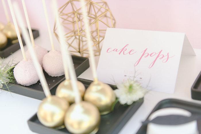 Cake pops from a Geometric Boho Wild & Free Birthday Party on Kara's Party Ideas | KarasPartyIdeas.com (5)
