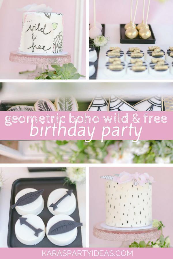 Geometric Boho Wild and Free Birthday Party via Kara's Party Ideas - KarasPartyIdeas.com