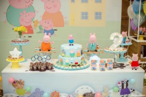 Cake table from a George Pig Birthday Party on Kara's Party Ideas | KarasPartyIdeas.com (15)